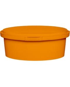 8 oz. Orange PP Plastic Round Tamper Evident Container, 110mm