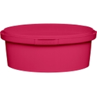 8 oz. Pink PP Plastic Round Tamper Evident Container, 110mm
