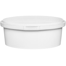 8 oz. (250 ml) White PP Round Tamper Evident Container, 110mm 110-TE