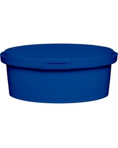 8 oz. Blue PP Plastic Round Tamper Evident Container, 110mm
