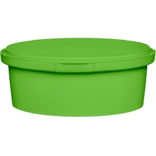 8 oz. Light Green PP Plastic Round Tamper Evident Container, 110mm