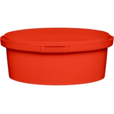 8 oz. Red PP Plastic Round Tamper Evident Container, 110mm