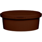 8 oz. Brown PP Plastic Round Tamper Evident Container, 110mm