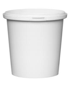 13 oz. White PP Plastic Round Tamper Evident Container, 89mm