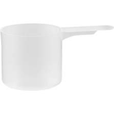 """60cc Natural Straight Wall Scoop W/ 1.5"""" Short Handle"""