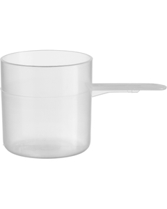 """70 cc Natural Straight Wall Scoop w/1.5"""" Short Handle"""