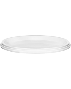 145mm White PP Plastic Round Tamper Evident Lid for 48 oz. Containers