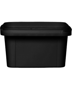 12 oz. Black PP Plastic Square Tamper Evident Container, 105mm