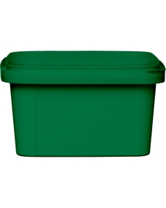12 oz. Green PP Plastic Square Tamper Evident Container, 105mm