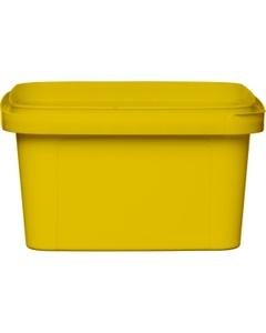 12 oz. Yellow PP Plastic Square Tamper Evident Container, 105mm