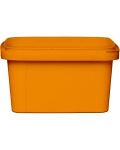 12 oz. Orange PP Plastic Square Tamper Evident Container, 105mm