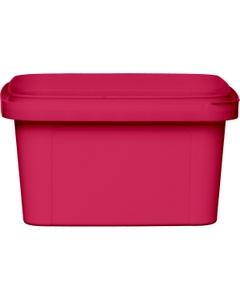 12 oz. Pink PP Plastic Square Tamper Evident Container, 105mm
