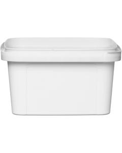 12 oz. White PP Plastic Square Tamper Evident Container, 105mm