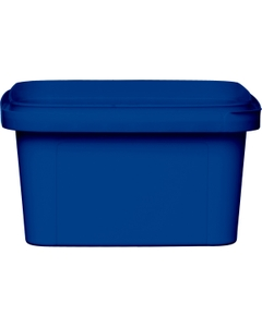12 oz. Blue PP Plastic Square Tamper Evident Container, 105mm