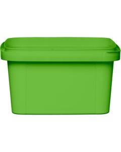 12 oz. Light Green PP Plastic Square Tamper Evident Container, 105mm