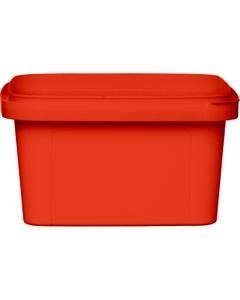12 oz. Red PP Plastic Square Tamper Evident Container, 105mm