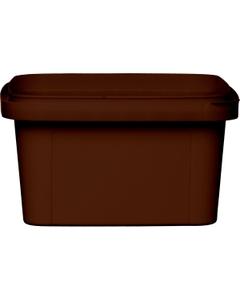 12 oz. Brown PP Plastic Square Tamper Evident Container, 105mm