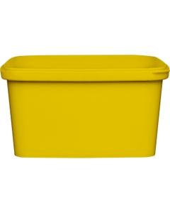 32 oz. Yellow PP Plastic Square Tamper Evident Container, 145mm