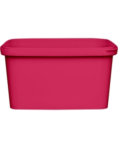 32 oz. Pink PP Plastic Square Tamper Evident Container, 145mm