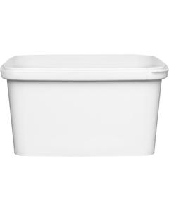 32 oz. (1 Liter) White PP Square Tamper Evident Container, 145mm 145-TE