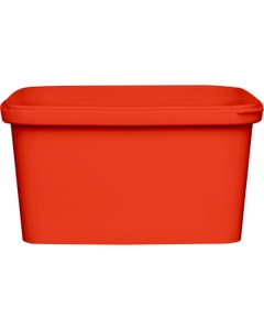 32 oz. Red PP Plastic Square Tamper Evident Container, 145mm
