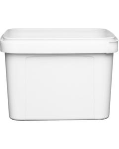 48 oz. (1.5 Liter) White PP Square Tamper Evident Container, 145mm 145-TE