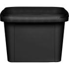 16 oz. Black PP Plastic Square Tamper Evident Container, 105mm