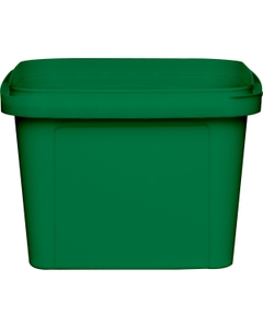 16 oz. Green PP Plastic Square Tamper Evident Container, 105mm