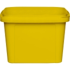 16 oz. Yellow PP Plastic Square Tamper Evident Container, 105mm
