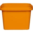 16 oz. Orange PP Plastic Square Tamper Evident Container, 105mm
