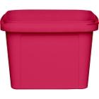 16 oz. Pink PP Plastic Square Tamper Evident Container, 105mm