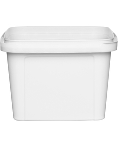 16 oz. (500 ml) White Square PP Tamper Evident Container, 105mm 105-TE