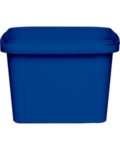 16 oz. Blue PP Plastic Square Tamper Evident Container, 105mm