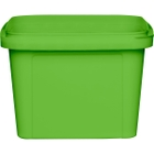 16 oz. Light Green PP Plastic Square Tamper Evident Container, 105mm