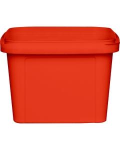 16 oz. Red PP Plastic Square Tamper Evident Container, 105mm