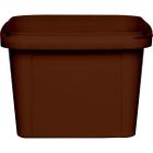 16 oz. Brown PP Plastic Square Tamper Evident Container, 105mm