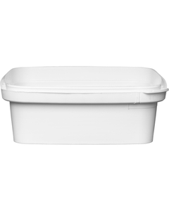 7 oz. White PP Plastic Square Tamper Evident Container, 105mm