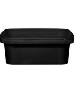8 oz. Black PP Plastic Square Tamper Evident Container, 105mm