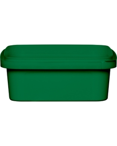 8 oz. Green PP Plastic Square Tamper Evident Container, 105mm
