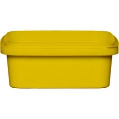 8 oz. Yellow PP Plastic Square Tamper Evident Container, 105mm
