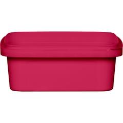 8 oz. Pink PP Plastic Square Tamper Evident Container, 105mm
