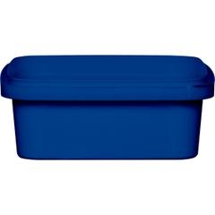 8 oz. Blue PP Plastic Square Tamper Evident Container, 105mm