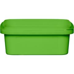 8 oz. Light Green PP Plastic Square Tamper Evident Container, 105mm