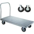 "30"" x 48"" Aluminum Platform Truck, Treadplate, 8"" x 2.5"" Pneumatic Casters, 1,200 lb. Capacity"