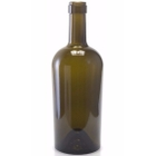 375 ml Antique Green Bordeaux Wine Bottles, Punted Bottom, Cork (Bartop), 12/cs