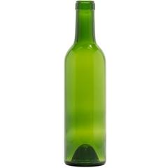 375 ml Champagne Green Bordeaux Wine Bottles, Punted, Cork 24/cs