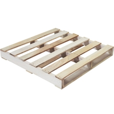 """36"""" x 36"""" Recycled Wood Pallet, 2-Way Fork Access, 1,500 lb. Capacity"""