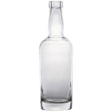 375 ml Clear Glass Tennessee Liquor Bottle, Bar Top, 12/cs