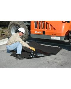 Ultra Absorbent Black Tarp® Spill Prevention Mat - 5' x 5'