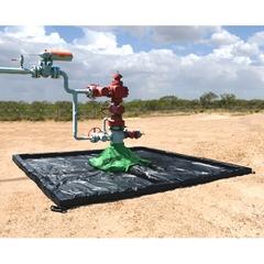 10.5' x 10.5' Ultra-Wellhead Berm Spill Containment Berm, w/ Hood - UltraTech 8858